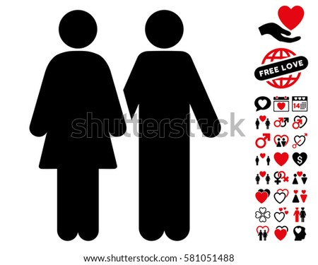Divorce Line Pictograph Bonus Marriage Pictograph Stock