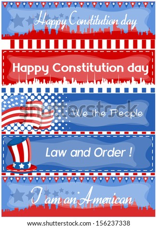 Advertisement and web banner - Constitution Day Vector Illustration - stock vector