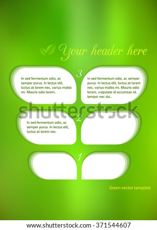 Advertisement flyer design elements. Mesh yellow green gradient background with elegant graphic mosaic bright light. Vector illustration EPS 10 for template brochure, layout leaflet, newsletters
