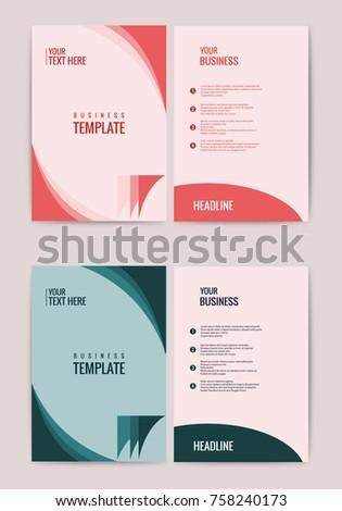 Advertisement Flyer Design Elements Modern Style Website Banner Purple Background Page Vector Illustration