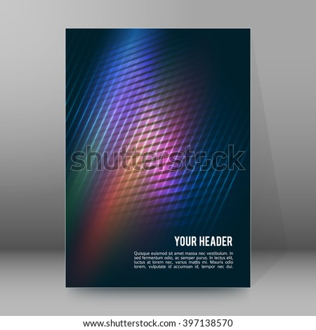Advertisement flyer design elements. Modern style Design website banners background page. Vector illustration EPS 10 for template brochure, layout leaflet, newsletters - stock vector