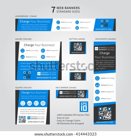 Web ad stock images royalty free images vectors shutterstock advertising ad web banner vector template standard size ad web banners set pronofoot35fo Image collections