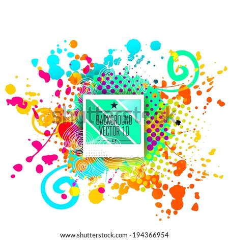 Advertising and promotion vector background for business poster. - stock vector