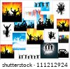 Advertising banners for sports championships and concerts - stock vector
