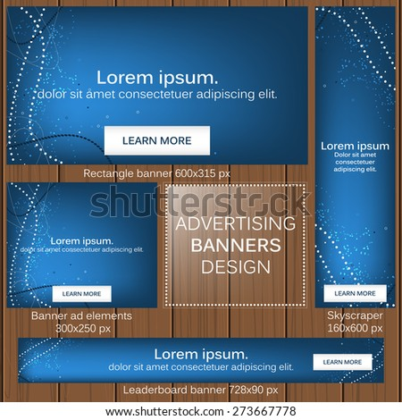 Advertising banners in different sizes for your web/vector illustration, editable vector design