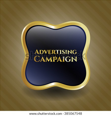 Advertising Campaign golden badge - stock vector