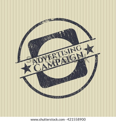 Advertising Campaign rubber grunge texture stamp