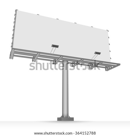 Advertising construction for outdoor advertising big billboard. Vector billboard for your design. - stock vector