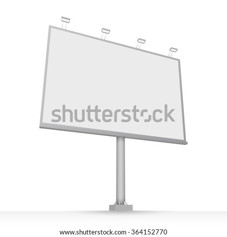 Advertising construction for outdoor advertising mid billboard. Vector billboard for your design. - stock vector