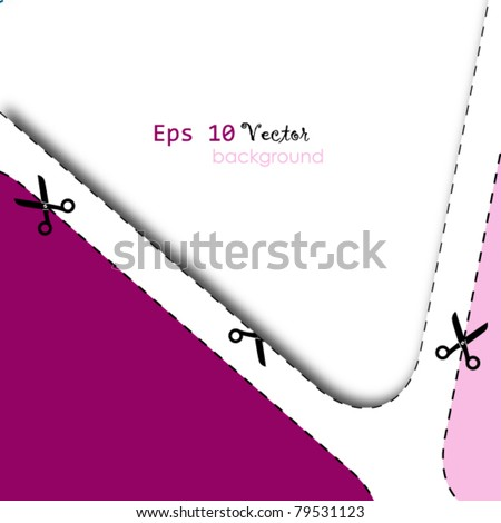 advertising coupon cut from sheet of paper - stock vector