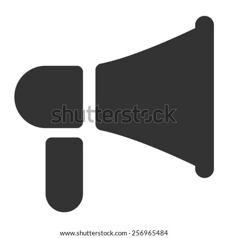 advertising loudspeaker flat icon for apps and websites - stock vector
