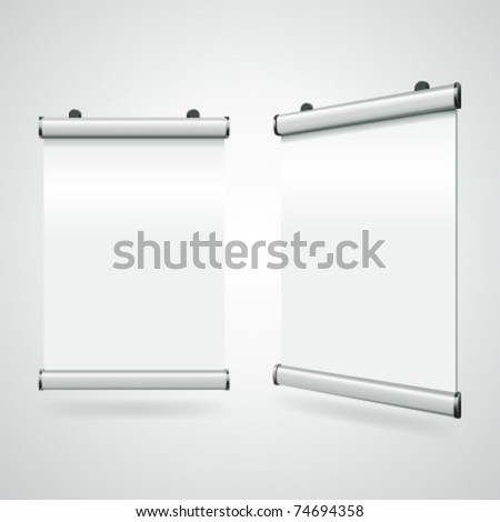 Advertising poster for hanging vector illustration