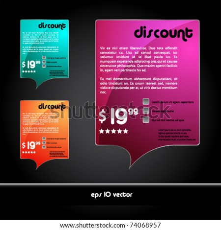 Advertising quote banners - stock vector