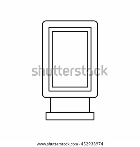 Advertising signs icon in outline style. Marketing symbol isolated vector illustration - stock vector