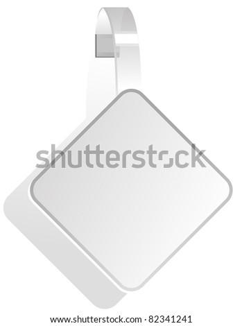 advertising White Paper wobbler - stock vector