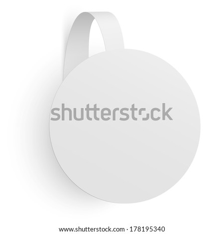 Advertising wobbler isolated - stock vector