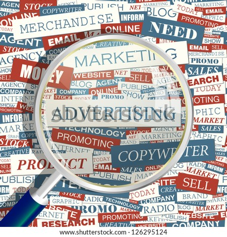 ADVERTISING. Word collage. Vector illustration. - stock vector