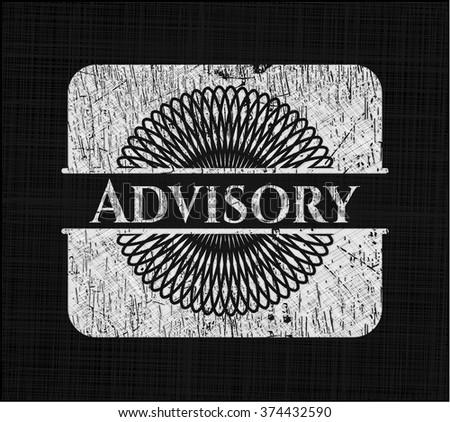 Advisory on blackboard - stock vector
