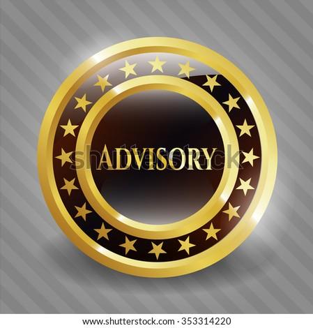 Advisory shiny badge - stock vector
