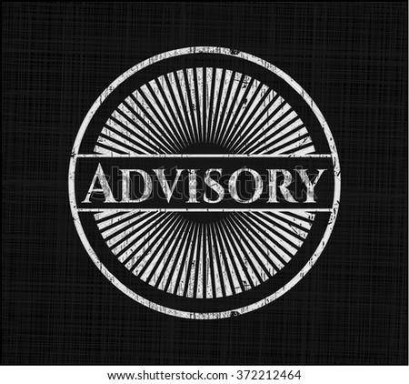 Advisory written on a chalkboard - stock vector