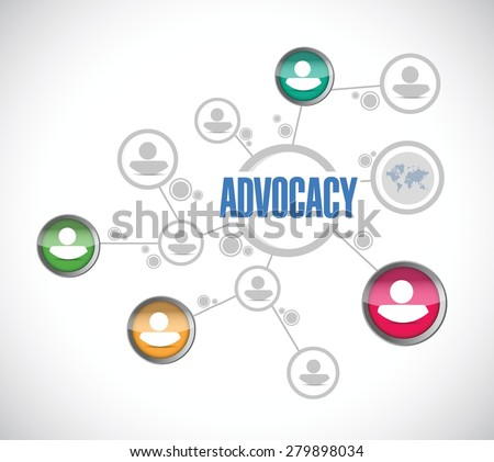 advocacy people diagram sign concept illustration design over white - stock vector