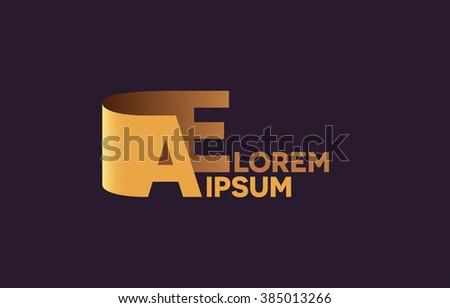 AE Letters Logo A And E Alphabet Design