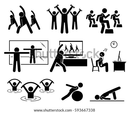 Aerobics Stock Images, Royalty-Free Images & Vectors | Shutterstock