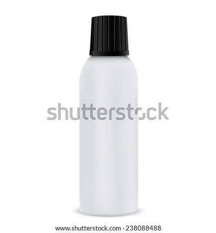 Aerosol spray metal bottle can  - stock vector