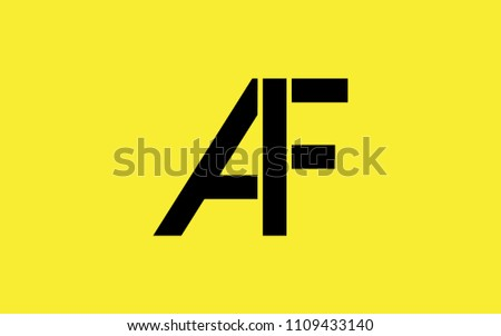 Af Fa F Uppercase Letter Initial Stock Vector 1109433140 Shutterstock