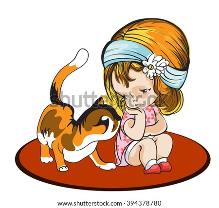 Affectionate cat comforts her friend, a 