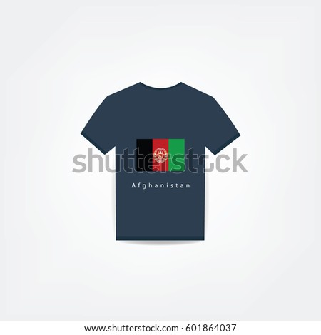Afghanistan Flag On t-shirt design Using For Business or Personal