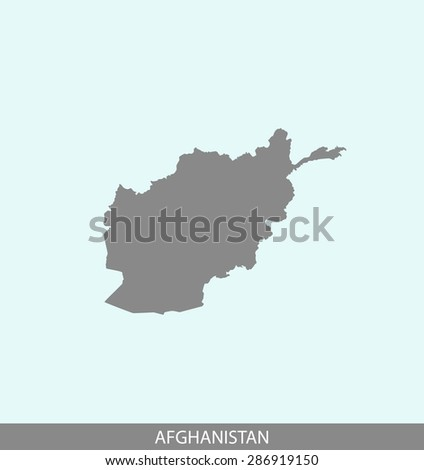 Afghanistan map vector, Afghanistan map outlines in a contrasted background for brochure design and publication uses - stock vector