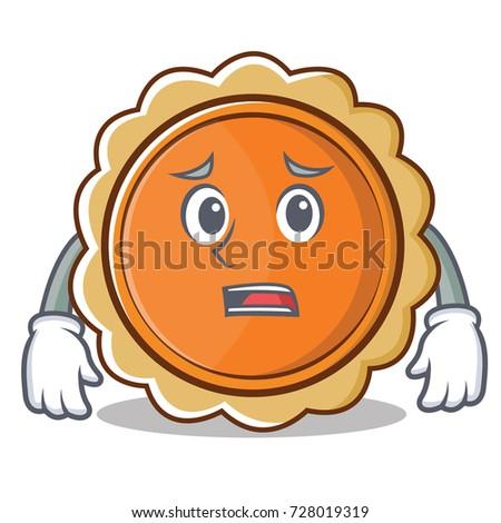 afraid pumpkin pie character cartoon stock vector 728019319 rh shutterstock com cartoon how pumpkin pie is made cartoon how pumpkin pies are made