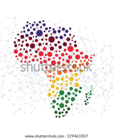 Africa abstract background with dot connection vector