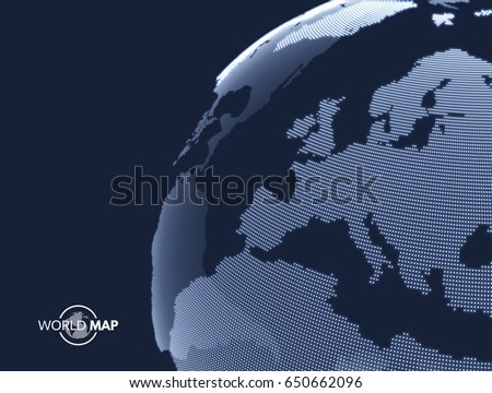Africa europe earth globe global business vectores en stock earth globe global business marketing concept dotted style design gumiabroncs Gallery