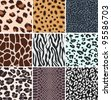 africa animal skin pattern swatch - stock vector