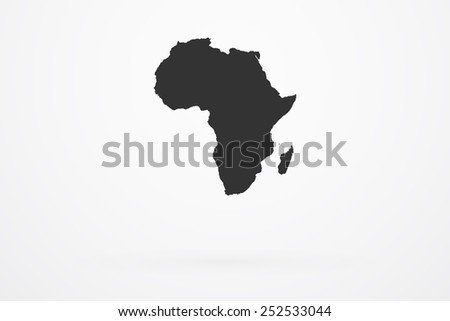 Africa Continent Map - stock vector