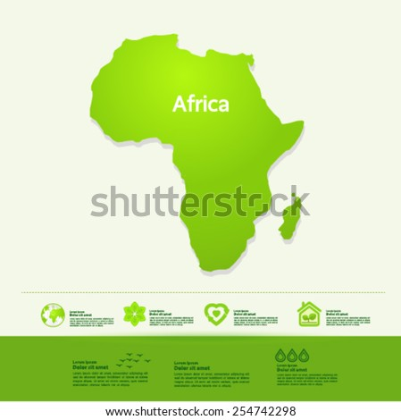 Africa ecology World Map vector illustration - stock vector