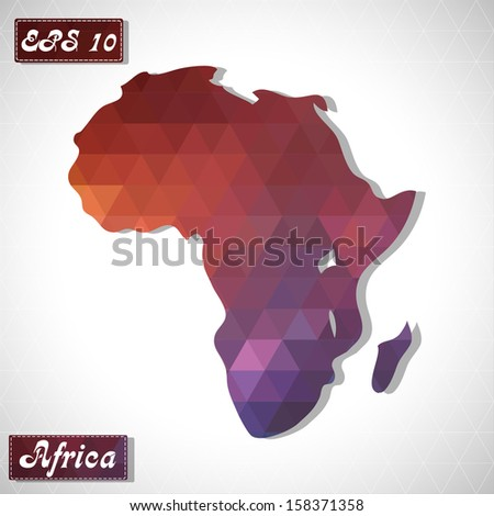 Africa. EPS10 file version. This illustration contains transparency and is layered for easy manipulation and custom coloring. - stock vector