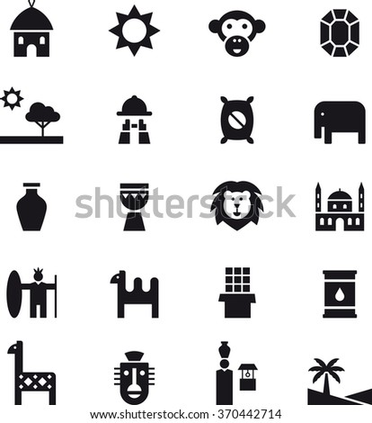 AFRICA icons - stock vector