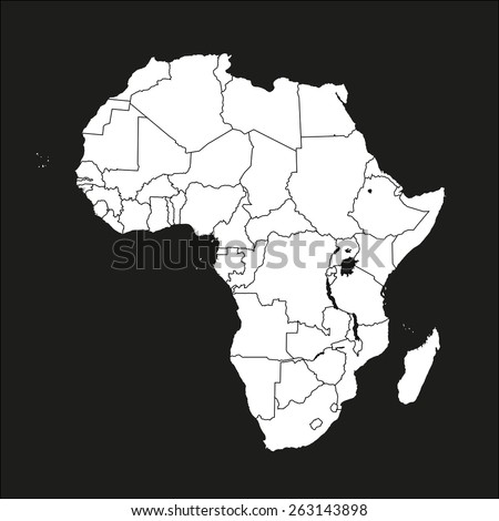 Africa map - stock vector