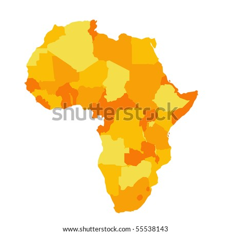 Africa map - stock vector