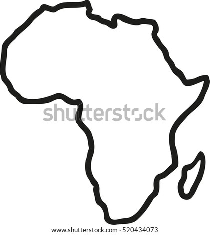 africa map sketch