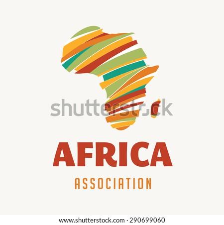 Africa map illustration - stock vector
