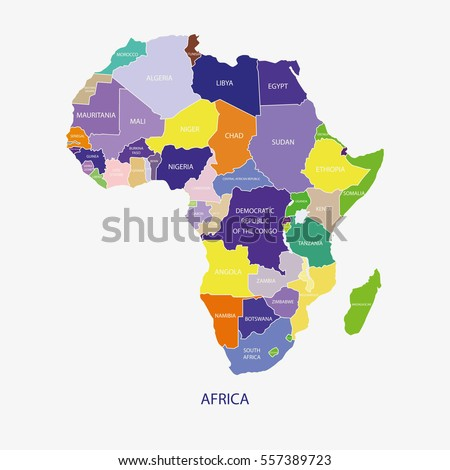 AFRICA MAP illustration vector