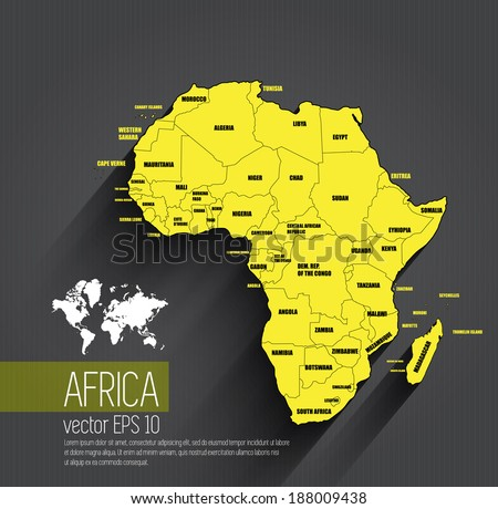 Africa map, vector - stock vector