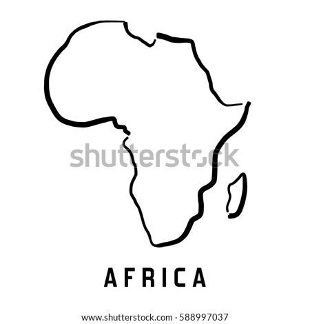 Worksheets Africa Map Outline africa continent outline stock images royalty free simple map smooth simplified shape vector