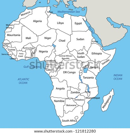 Africa - vector map - stock vector