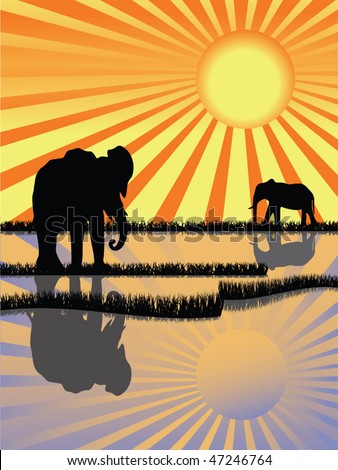 Africa wildlife - stock vector