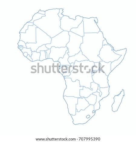 Africa world map graphic vector vectores en stock 707995429 africa world map graphic vector gumiabroncs Gallery
